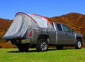 CampRight Truck Tent With Red Accents