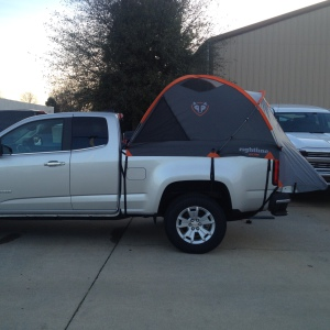 2015 Chevy Colorado with Truck Tent