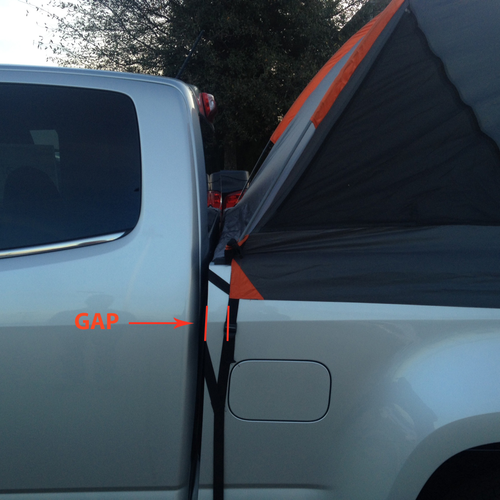 2015 Chevy Colorado Truck Tent Front of Bed