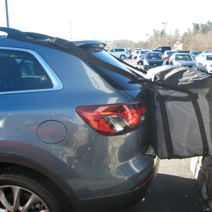 Mazda CX 9 with Rightline Gear Cargo Saddlebag