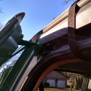 Car top Carrier strap blocking the Honda Odyssey sliding door
