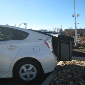 Rightline Gear Saddlebag on a Prius